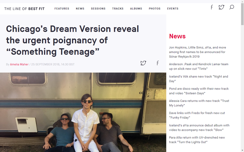 The Line Of Best Fit Share New Dream Verion Track