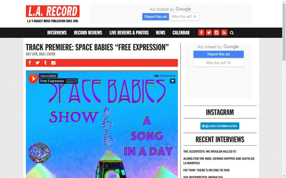 LA Record Premier New Space Babies Song
