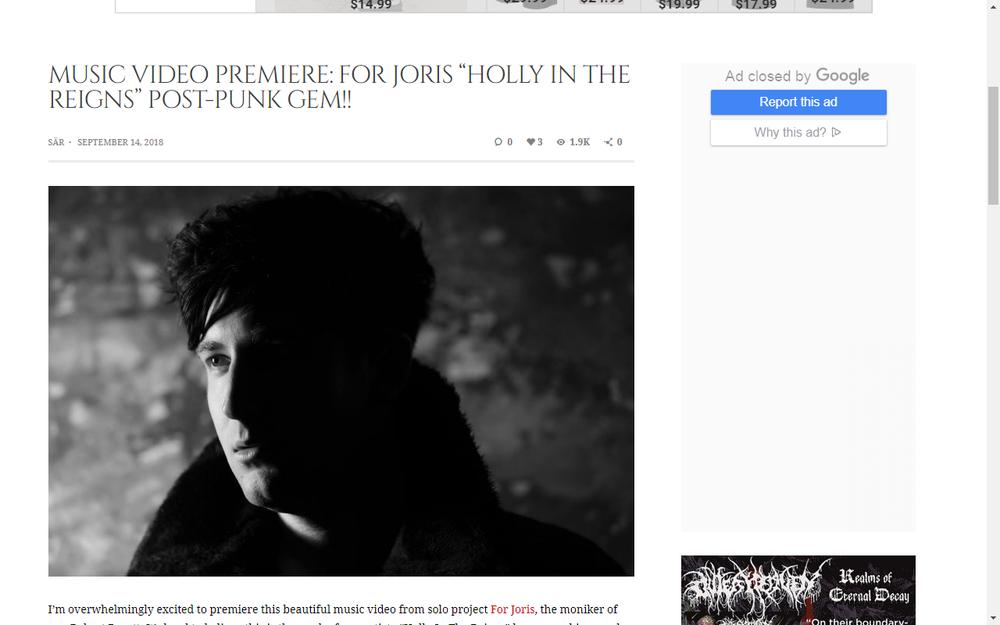 Joris Music Video Premier On Cvlt Nation