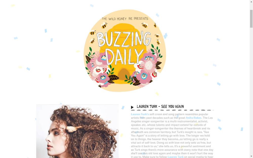 Lauren Tusk Buzzing On The Wild Honey Pie