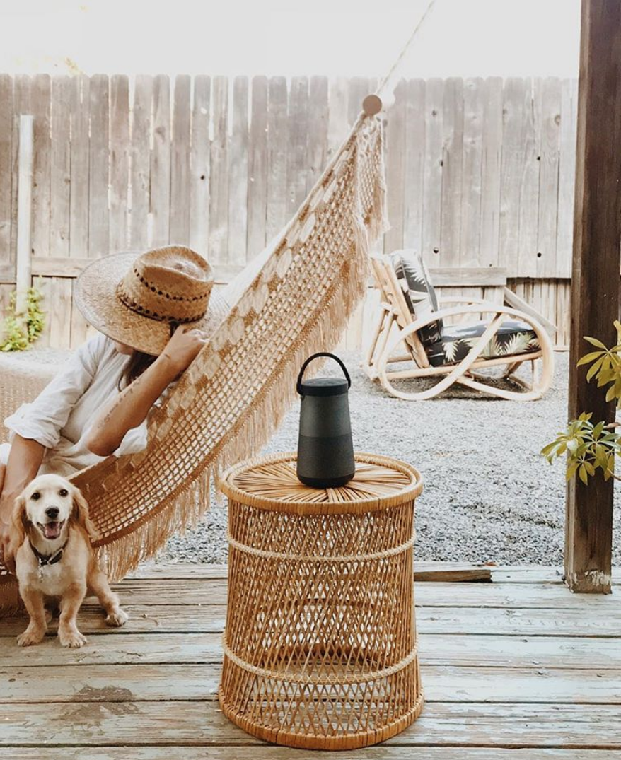 Denise Bovee and dog in Delmi Hammock