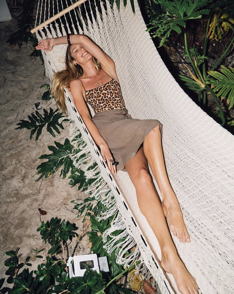 Candice Swanepoel in the Delmi Hammock