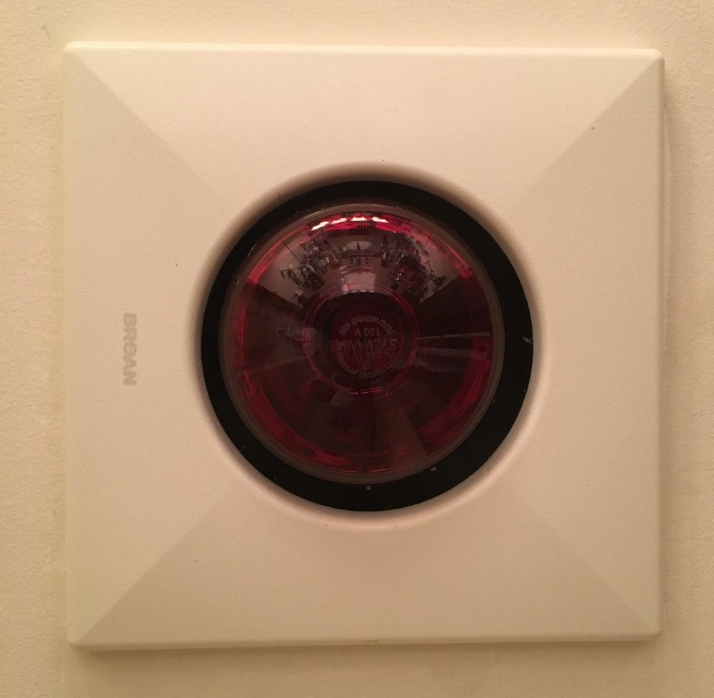 bathroom exhaust fan with heat lamp