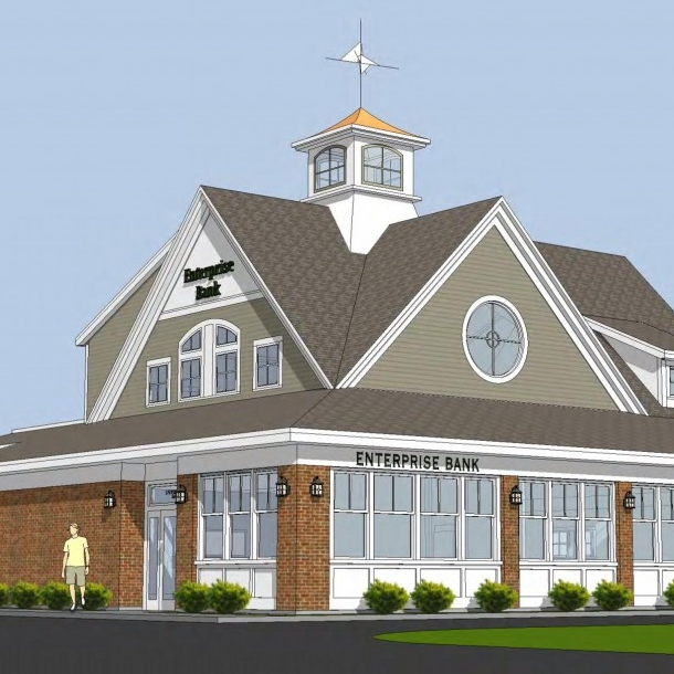 Enterprise Bank  Nashua, New Hampshire Custom cupola system Contractor: Charter Brothers & Metro Walls, Inc.