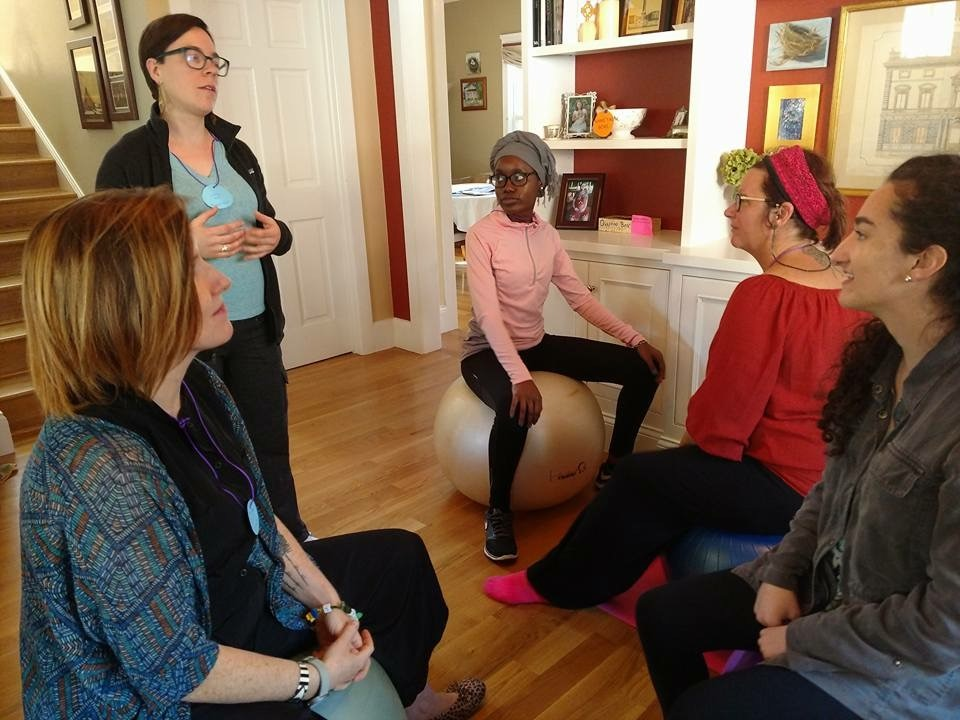 Darby Morris, Founder & Owner, Sweetbay Doula - Teaching a Lamaze class