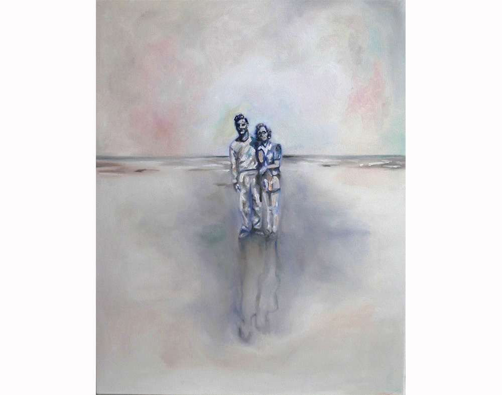 'Young Couple' Oil on Linen, 28x22 in
