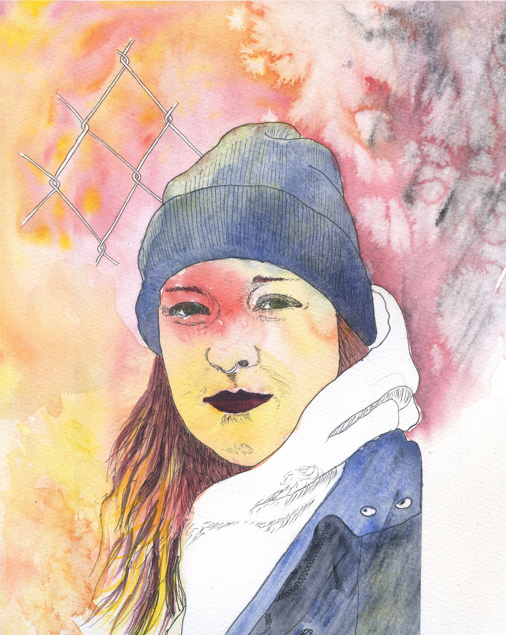watercolor alex portrait fence.jpg