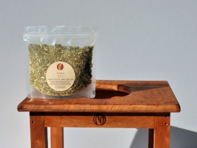 v-steam steam stool and organic herbs for vaginal steaming