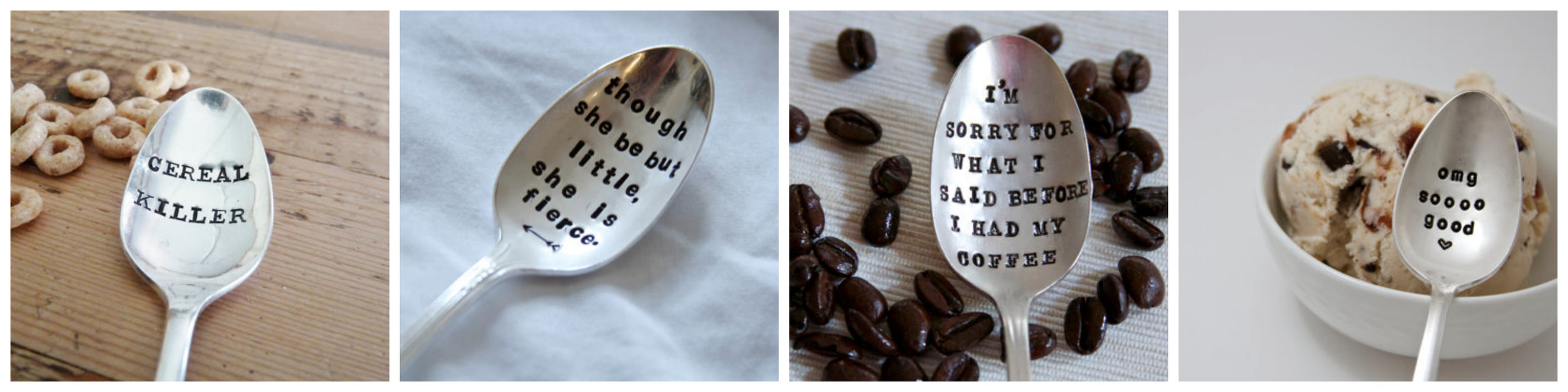 Hand Stamped Spoons