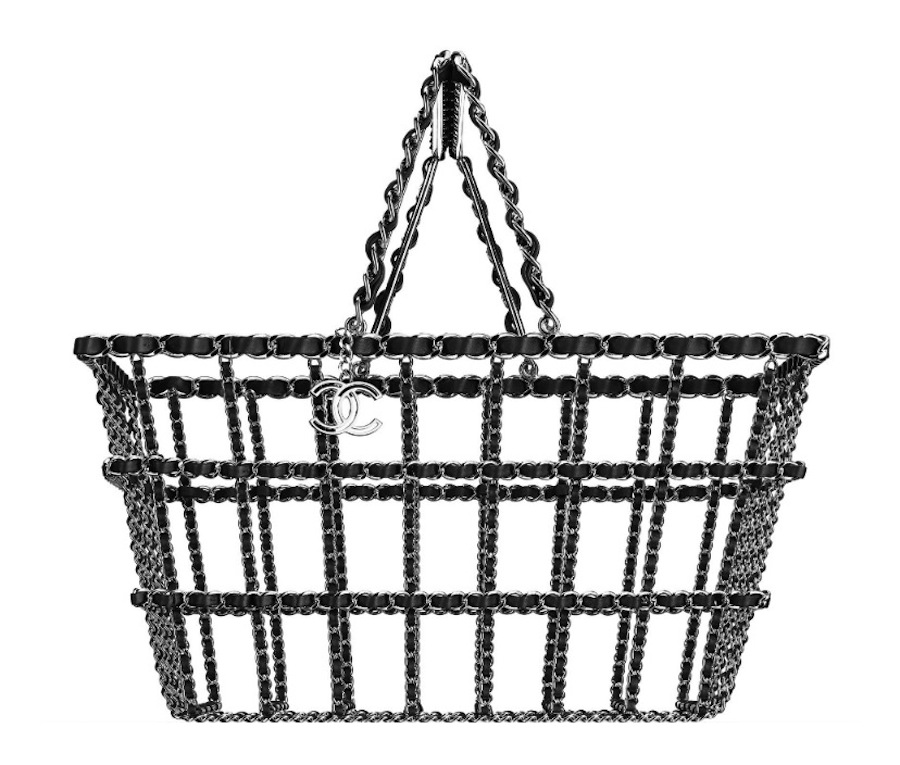 Chanel Brass Shopping Basket Purse