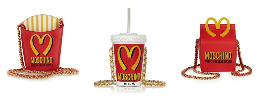 McDonald's inspired purses by Moschino