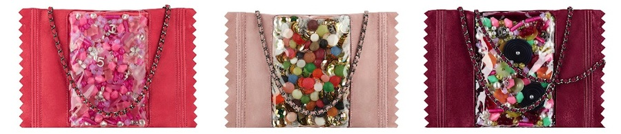 Chanel Embroidered Candy Purses