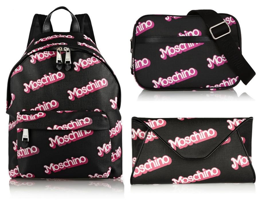 Moschino Barbie-inspired backpack, shoulder bag & clutch