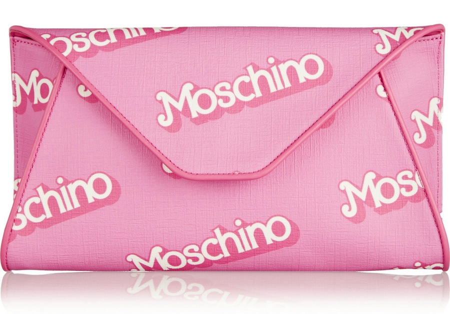 Moschino Barbie-inspired clutch in pink