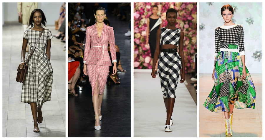 Left to right: Michael Kors, Bottega Venetta, Oscar de la Renta & Tsumori Chisato from their Spring/Summer 2015 Collections