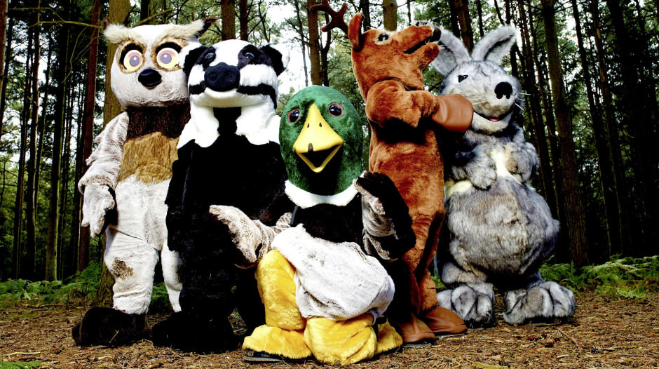 Wild Things  Contestants in their costumes in the woods. Series Generics ©Adam Lawrence 03/09/2014