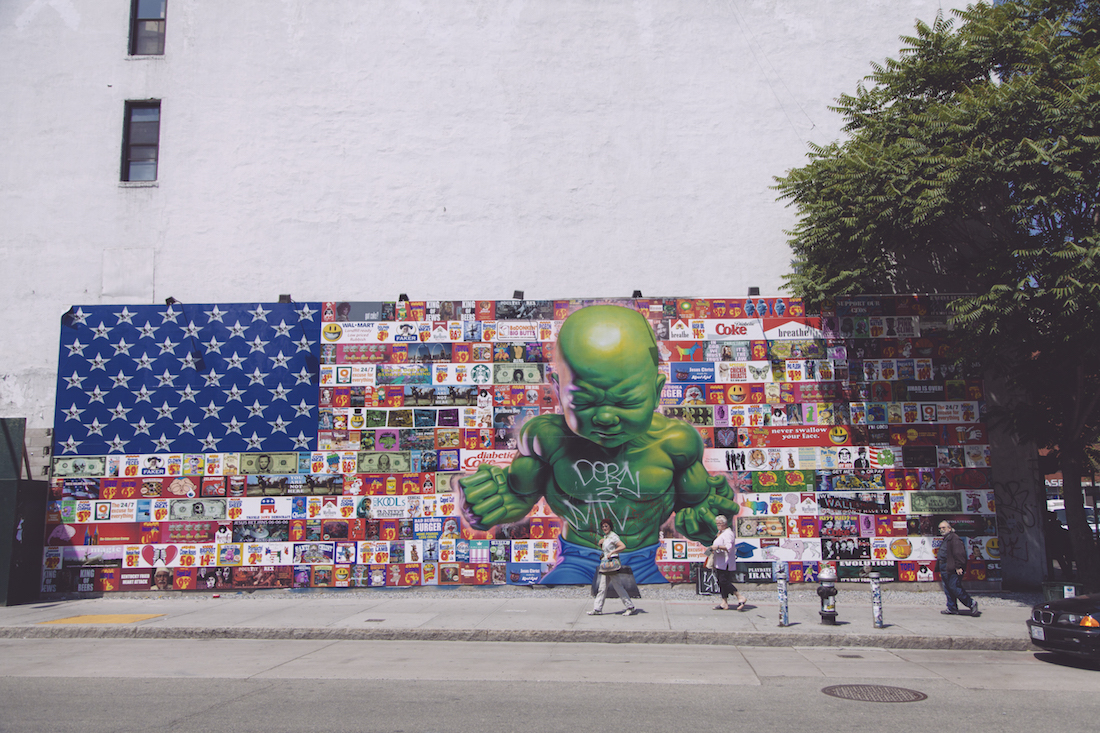 All American Temper Tot at the Houston Bowery Wall (Corner of East Houston and Bowery Street)