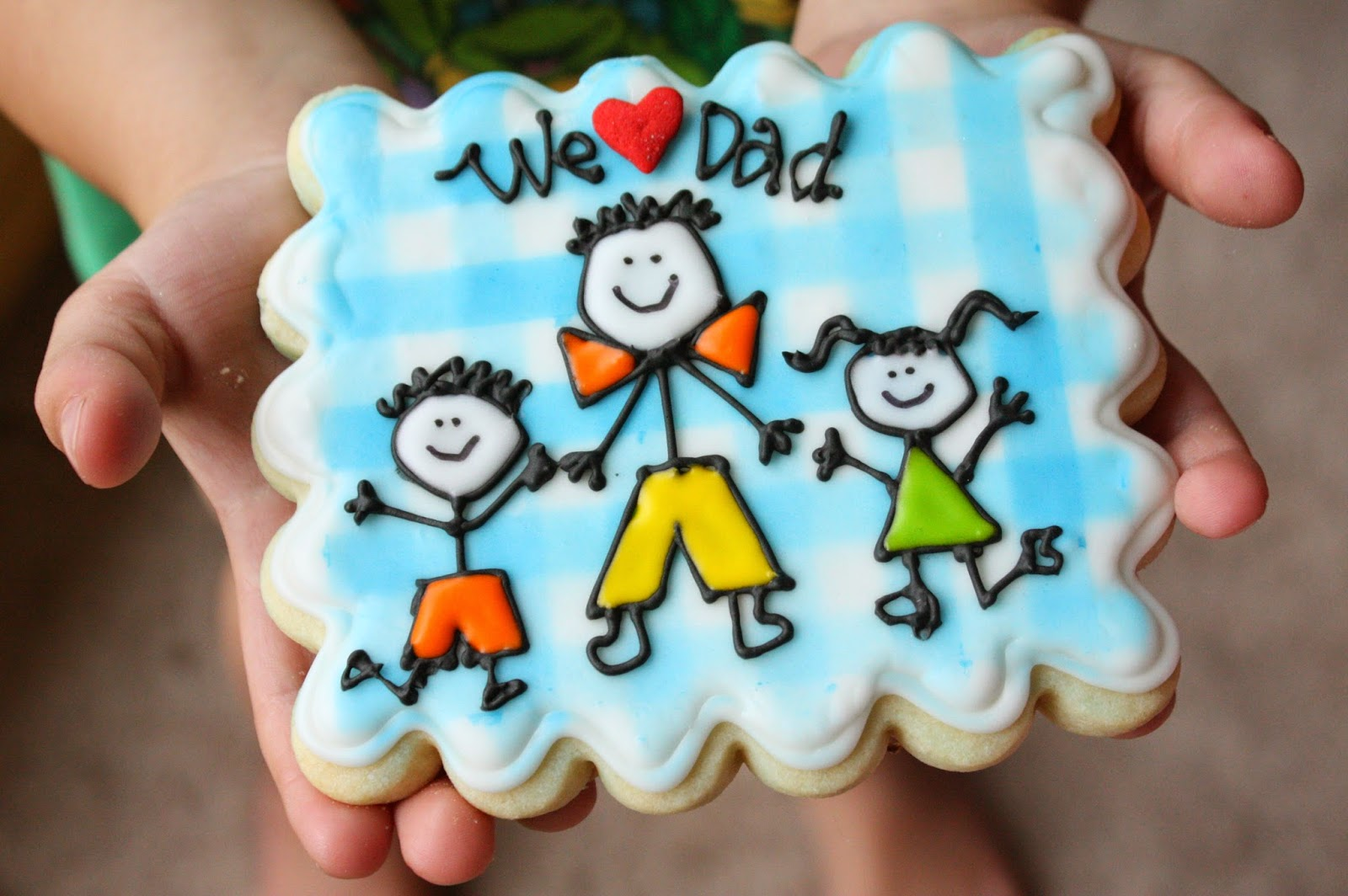 Stick figure Dad cookie 024 2