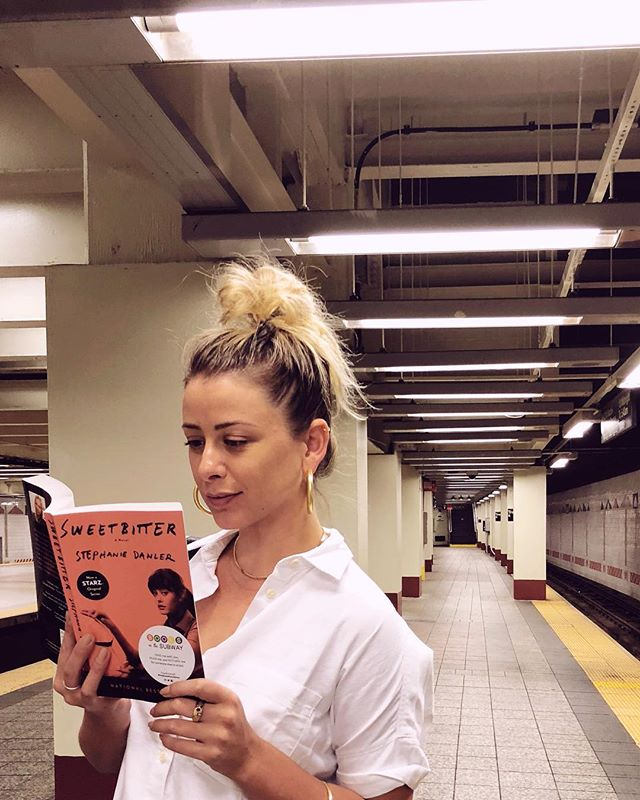 """Find a copy of #Sweetbitter on the subway today? One of my fave coming of age stories in NYC. I hid them for you with @booksonthesubway to gear up for the #Sweetbitter premiere on #Starz this Sunday. Can't wait!"""""""