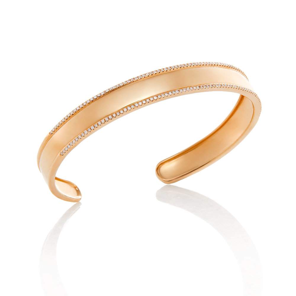 18K Rose Gold, Shiny Finish
