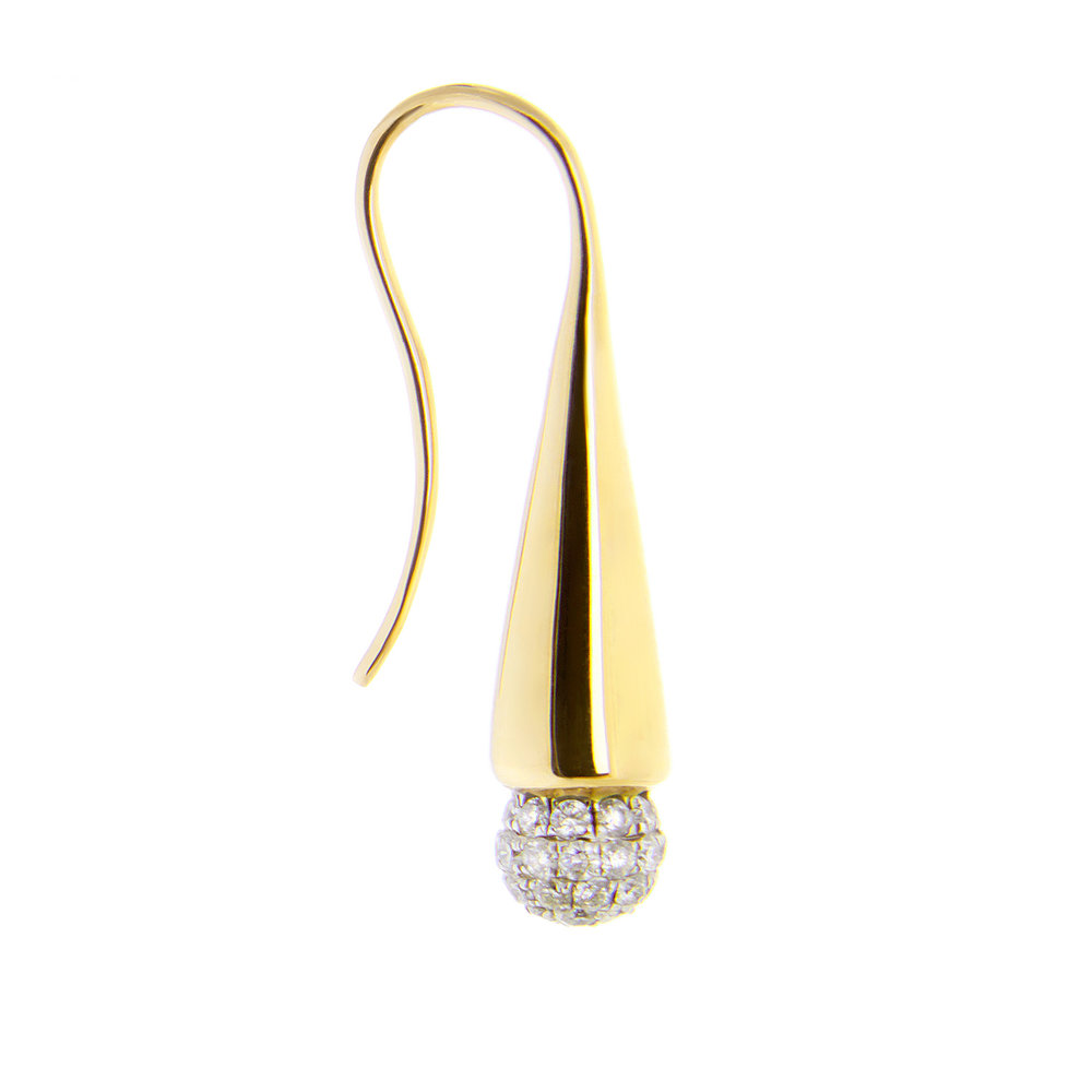 18K Yellow Gold White Diamonds