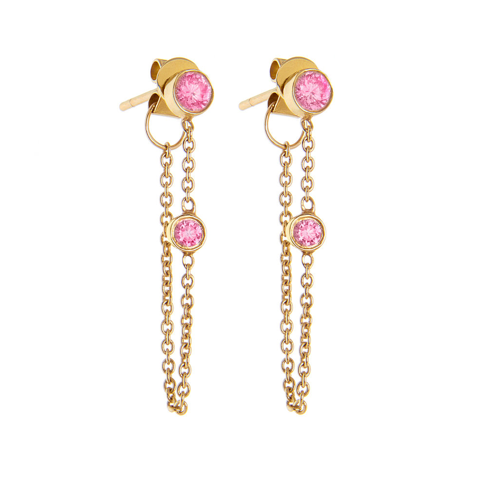 14K Yellow Gold, Pink Sapphire