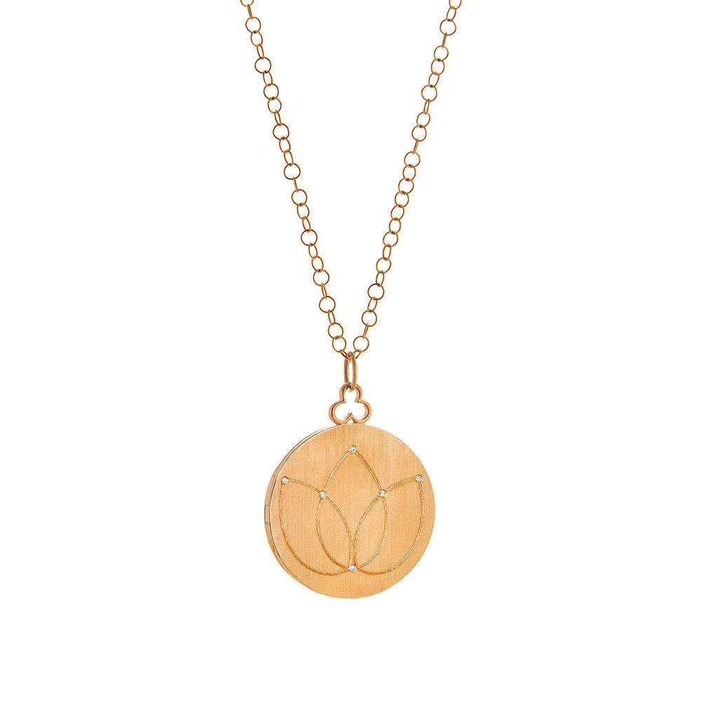 18K Rose Gold, Large, Florentine Finish