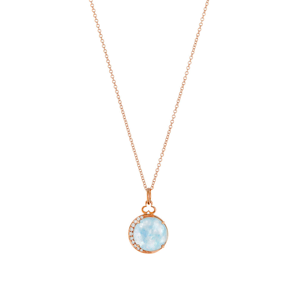 18K Rose Gold, Moonstone