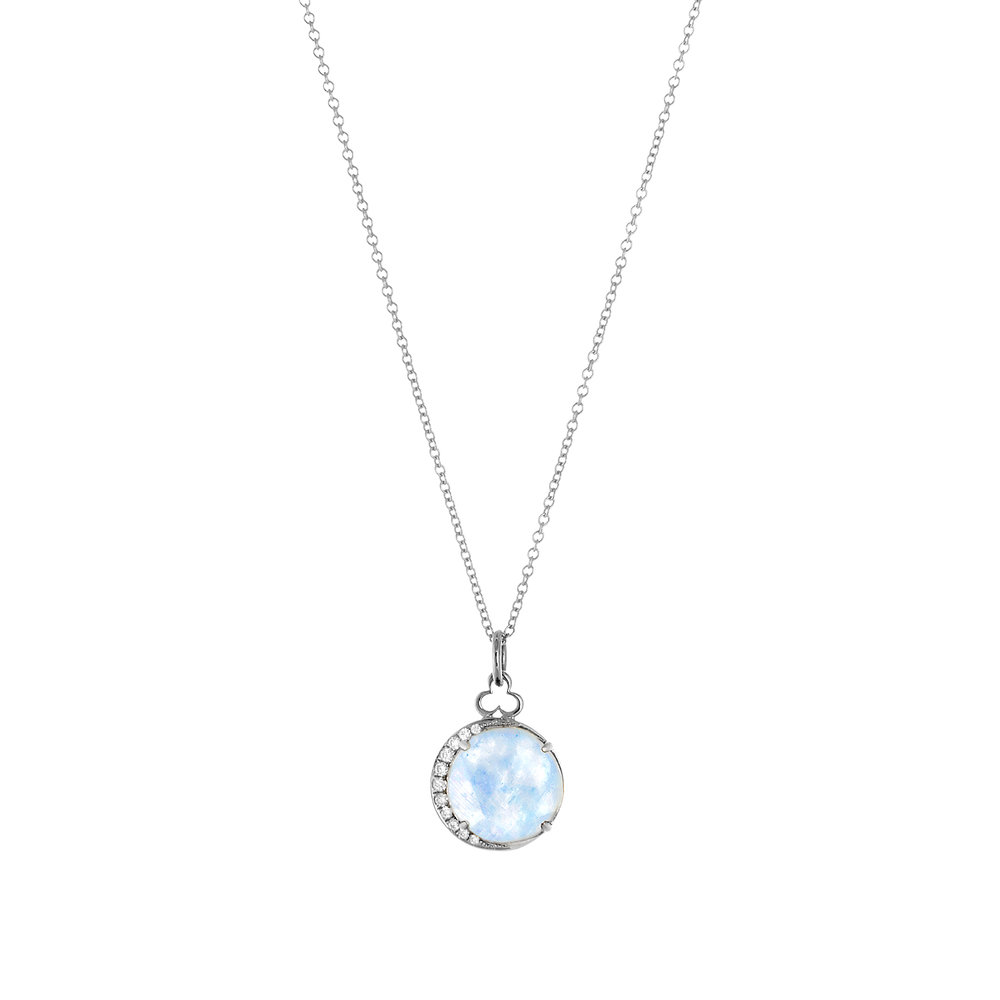 18K White Gold, Moonstone