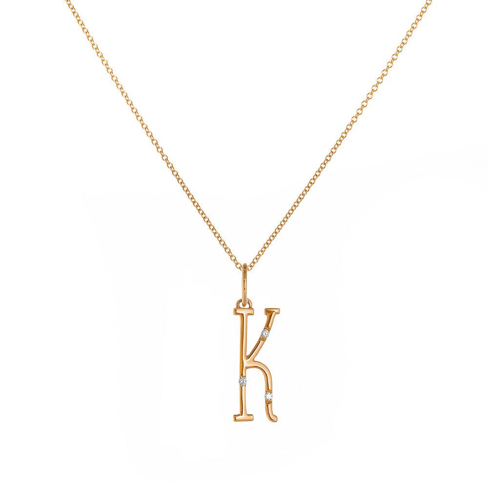 """18K Rose Gold - """"K"""""""