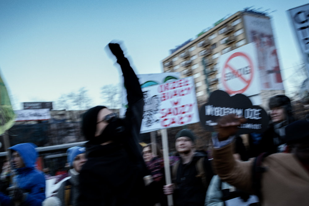 """The march started at noon with the Italian anti-fascist song """"Bella Ciao""""."""