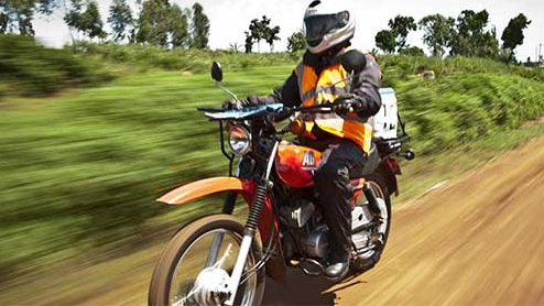 Riders for Health - $10 trains a rural health worker to safely ride and maintain an ambulance motorcycle.