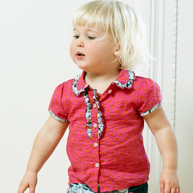 Have you got $100 and a rad little girl in your life? The Queen of the playground set is for you! This little feminist goes from playtime to teatime, without missing a beat. Gemma Blouse and Penelope Skort, plus Girls Up Front temporary tattoo and button set.