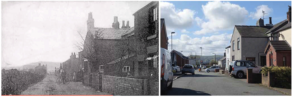 Manchester House, Penymynydd then and now