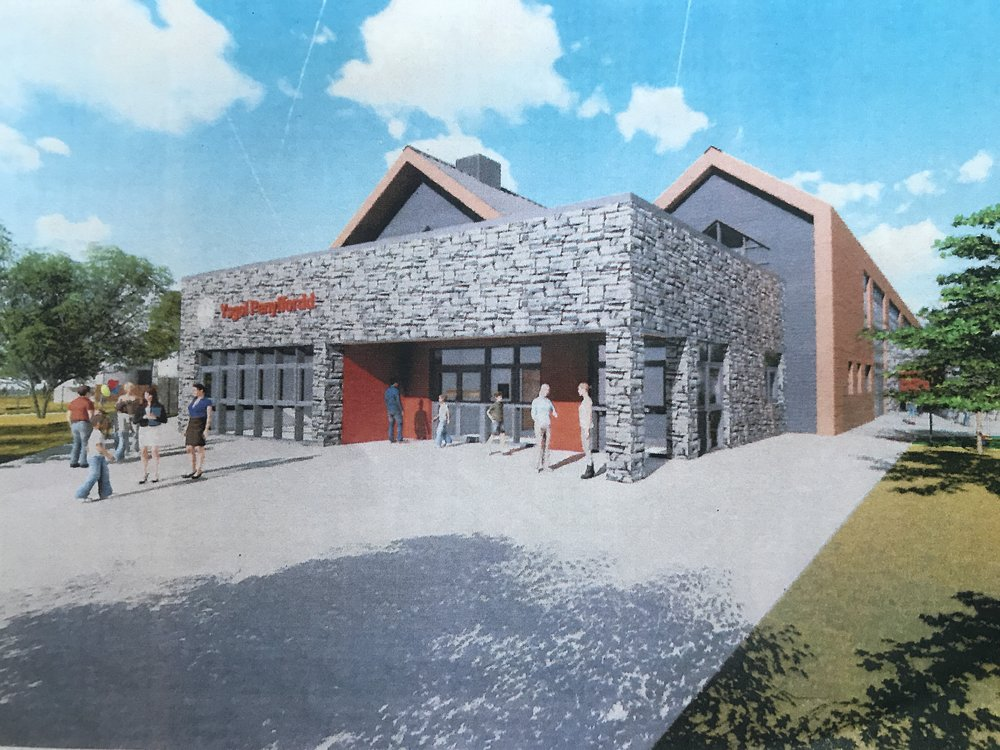 The front entrance of the proposed new school