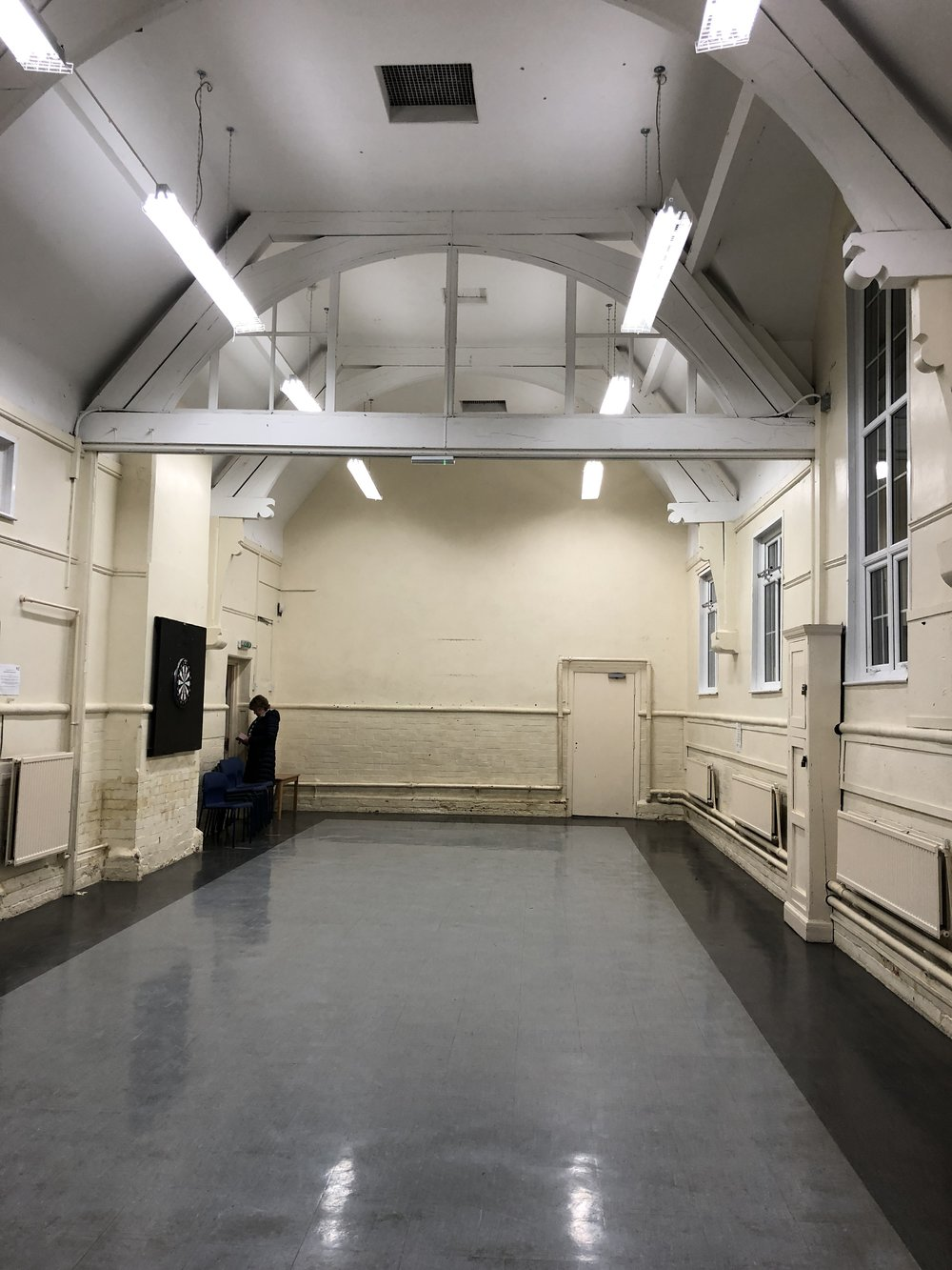 The main 'hall' in the Youth Club - one of 5 spaces in the building.