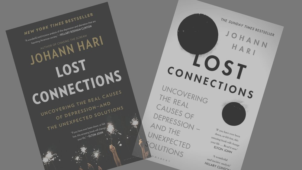 book club - ON SUNDAY APRIL 29 WE WILL BE EXPLORING LOST CONNECTIONS BY JOHANN HARI AND MEETING AT 5:15PM TO DISCUSS, SHARE, AND JOURNAL FOR 45 MINUTES TO AN HOUR. COME PRACTICE AT THE 4 O'CLOCK CLASS.BOTH ARE FREE TO THE COMMUNITY.
