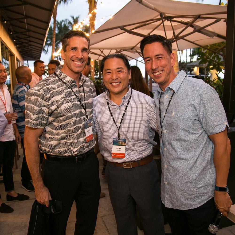 from left to right: Scott Paul, award recipient, with Sean Tadaki and Jason Kim