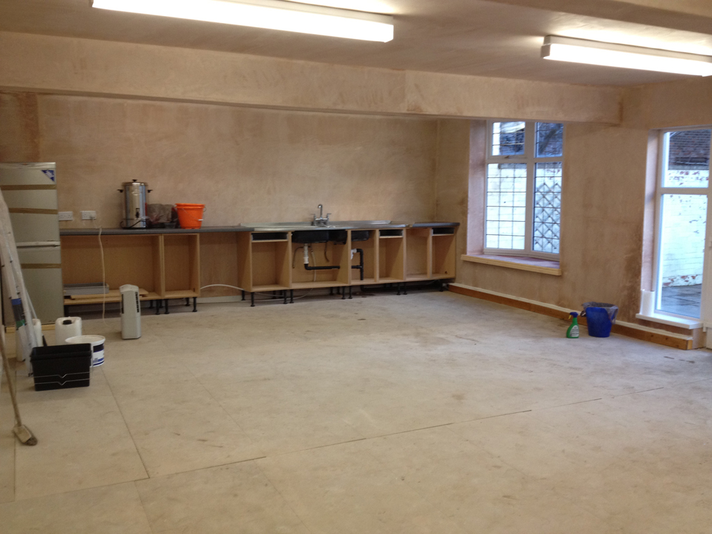 Building work finished - now the hard work started!