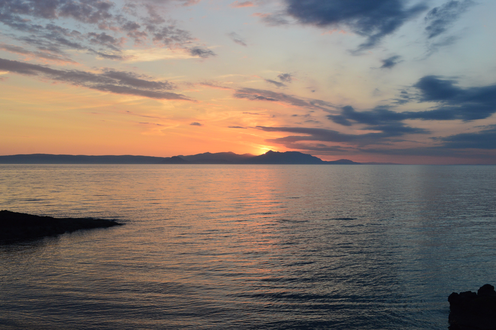 Sun setting over Arran (June 2016)