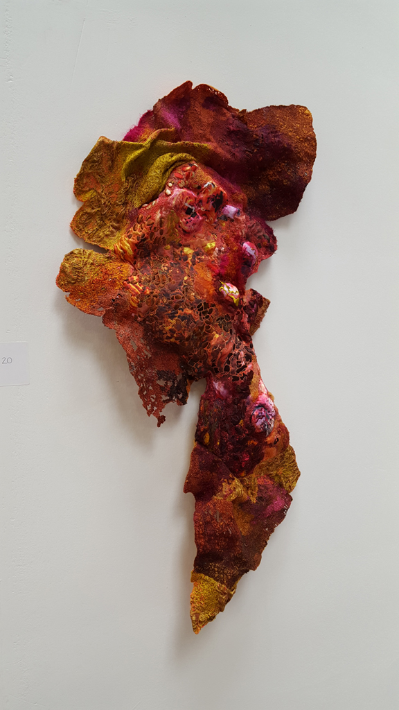 Rust rose by Sue Hotchkis Shortlisted in Fine Art Quilt Masters