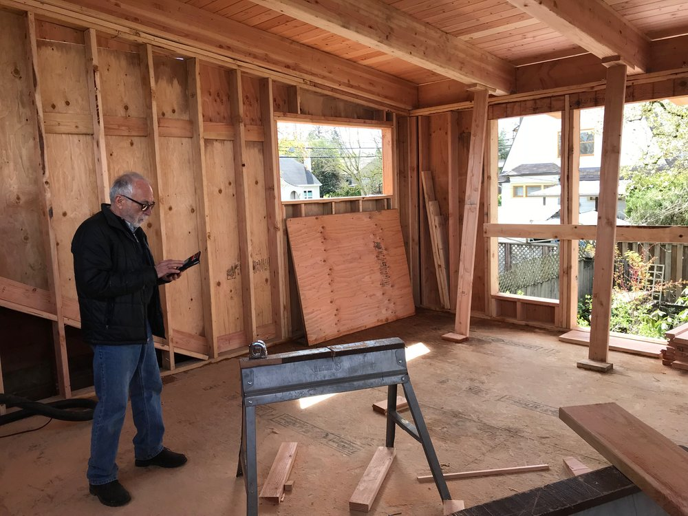 - Reis inspects his new Portland studio space under construction on the new second level in his Portland home Once the remodel of the vintage 1924 Sellwood neighborhood bungalow is complete, a new creative chapter will begin.