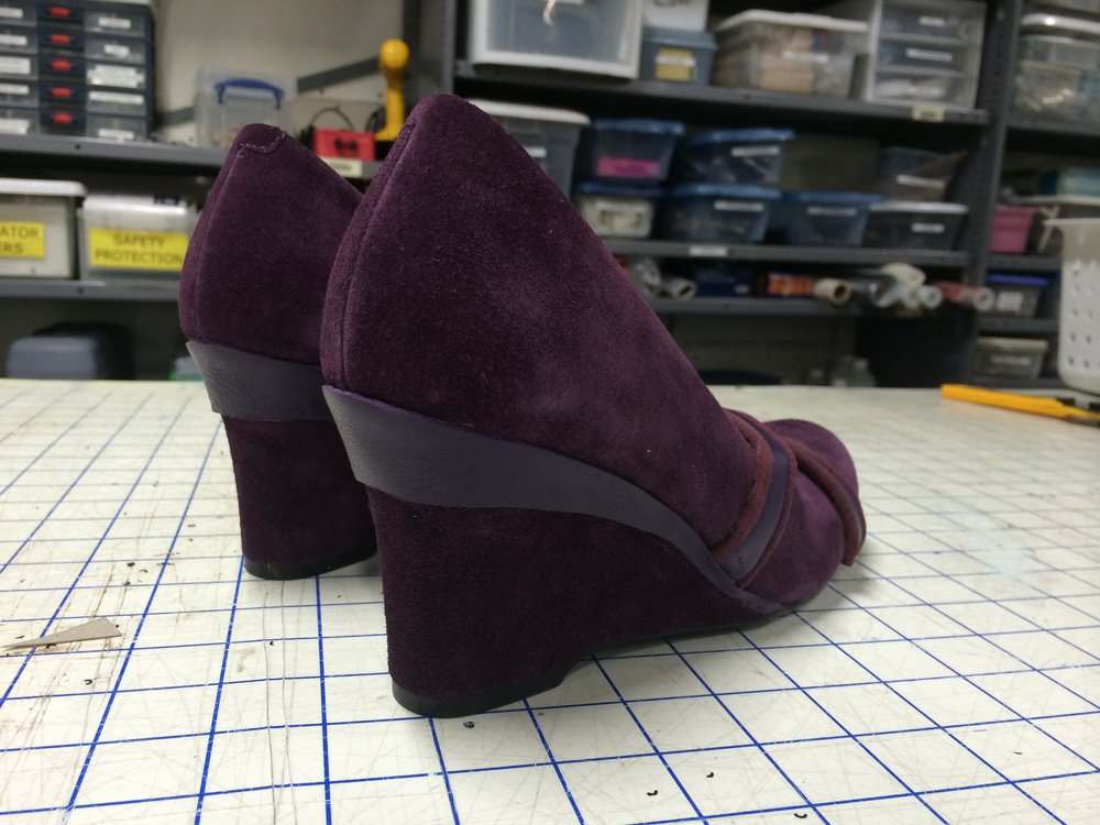 Embellishments on understudy heels (2 pairs)