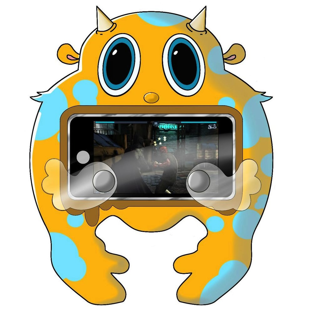 "Toy Design - ""Mighty Midget"" iPhone Game Controller Case   Digital Sketch, Sketchbook Pro"