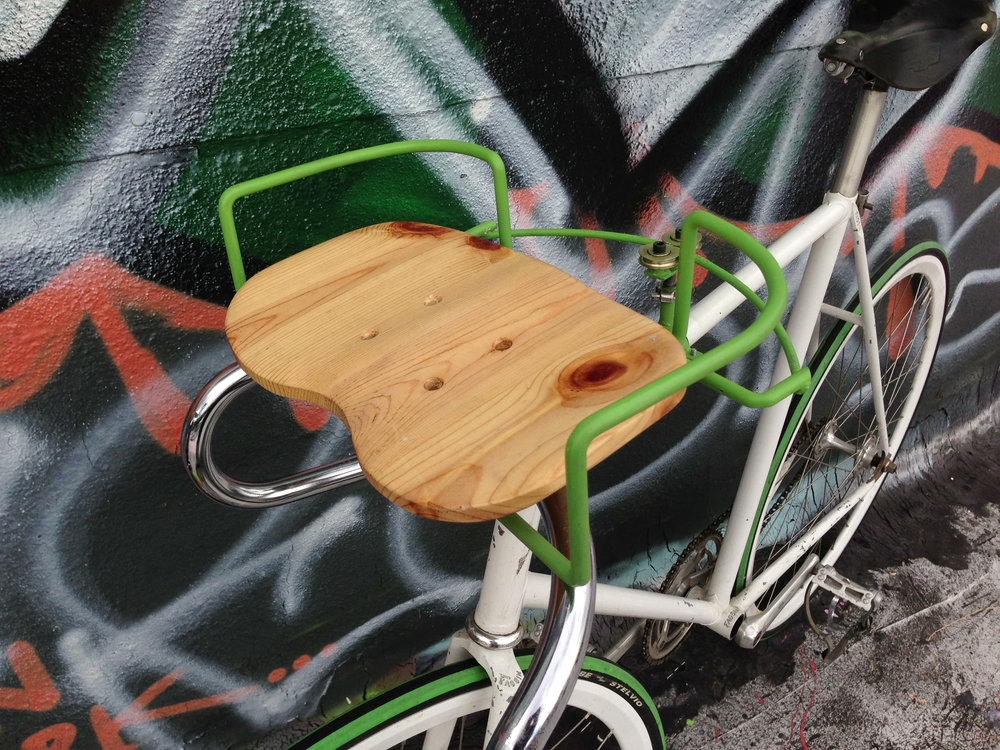 """Buddy Seat"" Prototype   Welded Steel, Hand-Cut and Sanded Plywood"