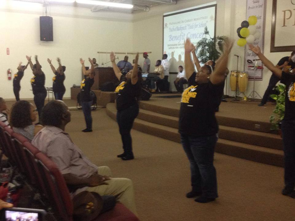 Young Adult Ministry worshiping God
