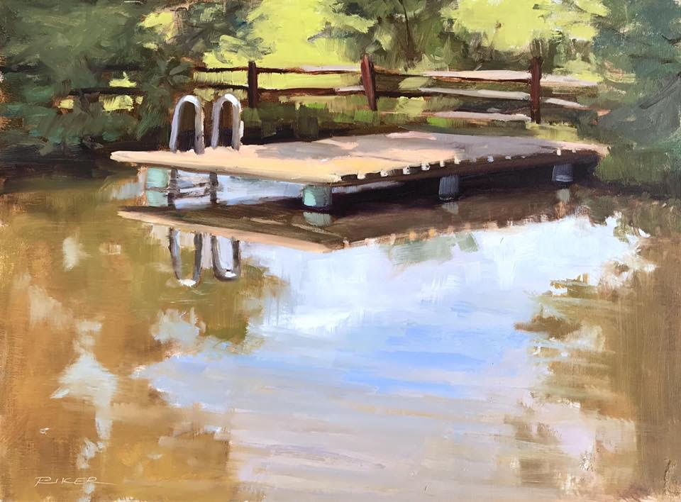 """Julie Riker   """"The Old Swimming Hole"""""""
