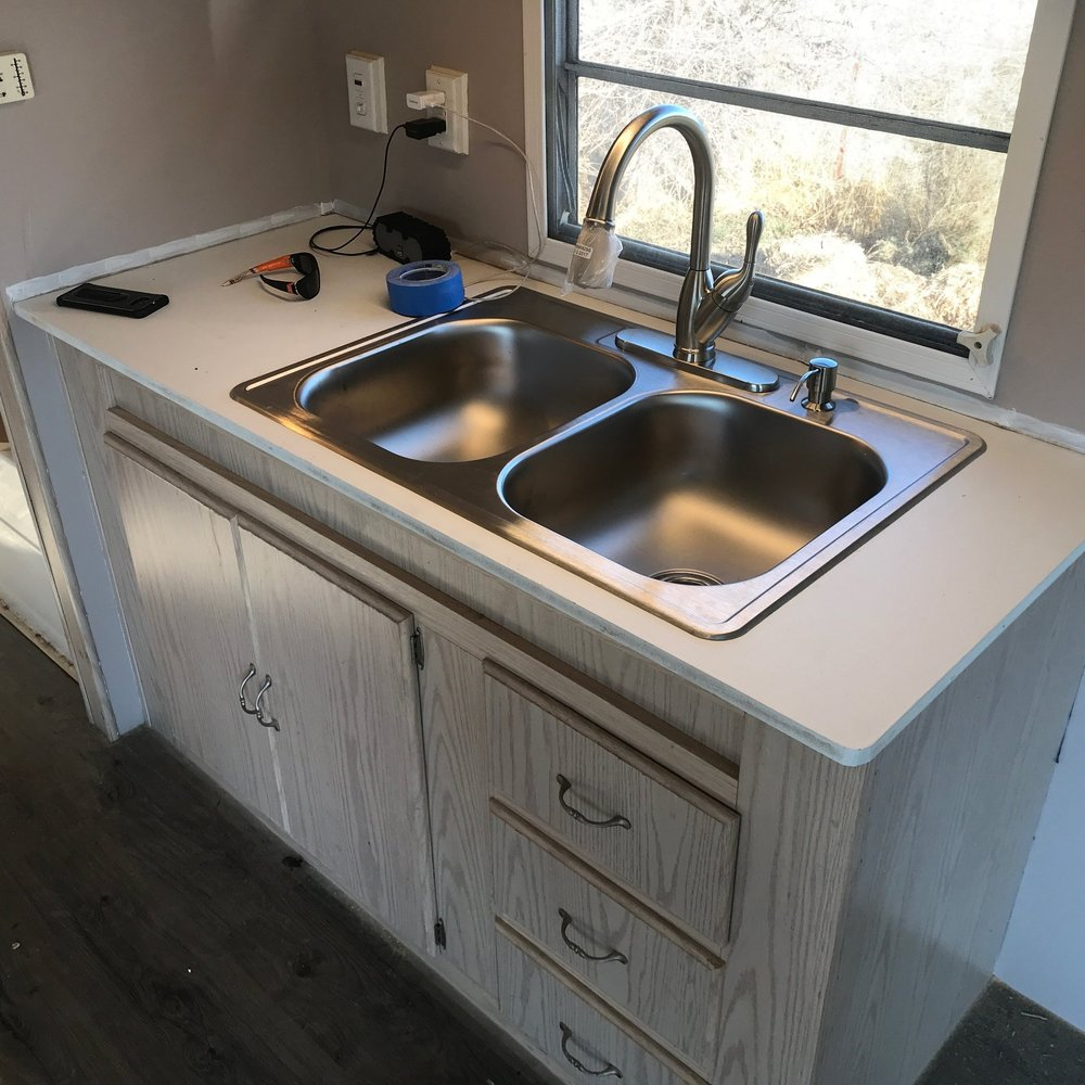 RV Sink and cabinet installation  -