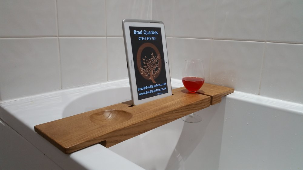 Oak Bath Caddy - Bath Board — Brad Quarless sculpture & fabricant de ...