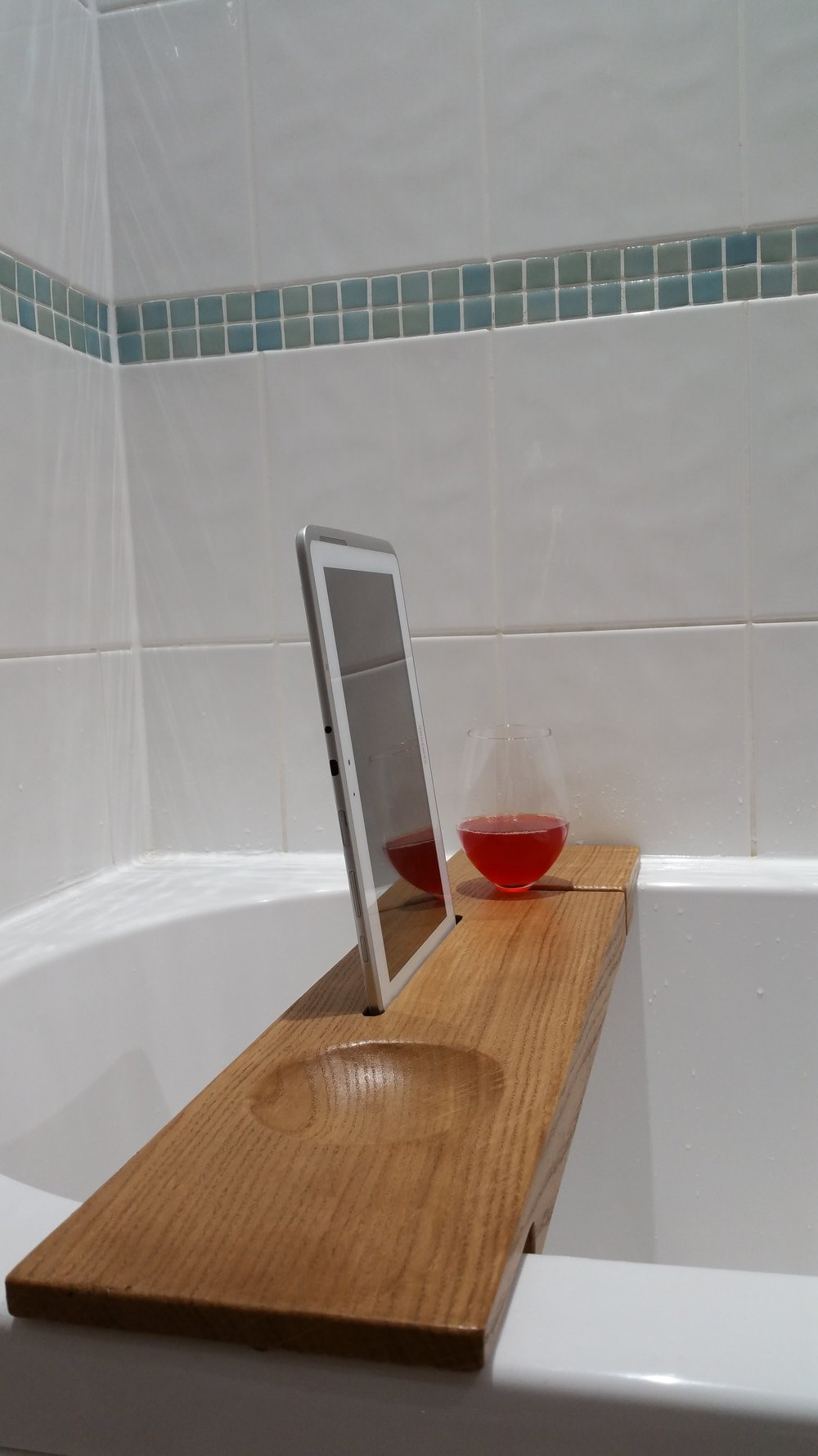 Oak Bath Caddy - Bath Board — Brad Quarless sculpture & fabricant de ...